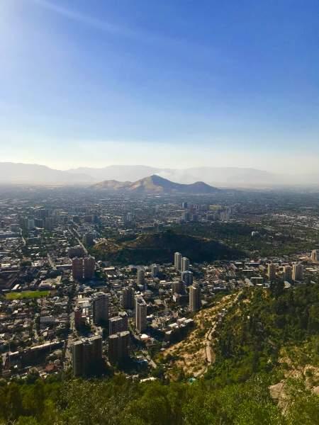 Cerro San Cristóbal en Santiago